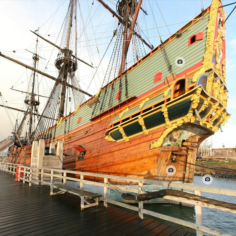 Batavia historical ship replica 360 degree virtual tour