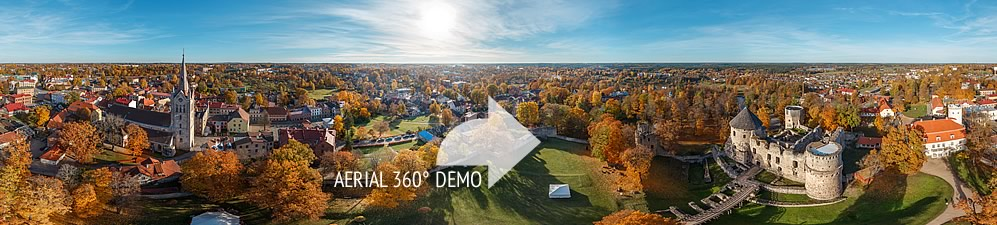 360 degree HD Aerial Panoramas and virtual tours CESU CASTLE - Virtual Latvia