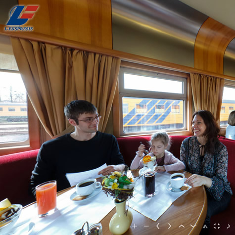 L-Ekspresis international passenger trains - 360° virtual tour