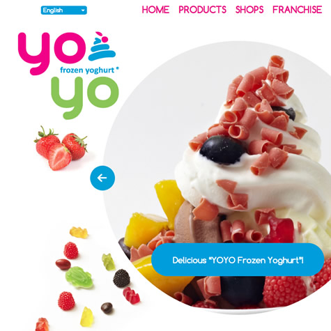 Yoyo frozen yoghurt multimedia website development