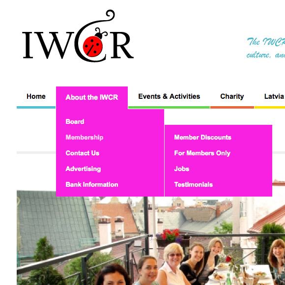 International Womens Club of Riga responsive website design
