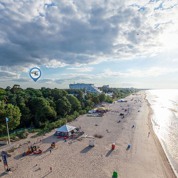 Jurmala Resort Aerial HD panoramas 360 degree virtual tour - featured