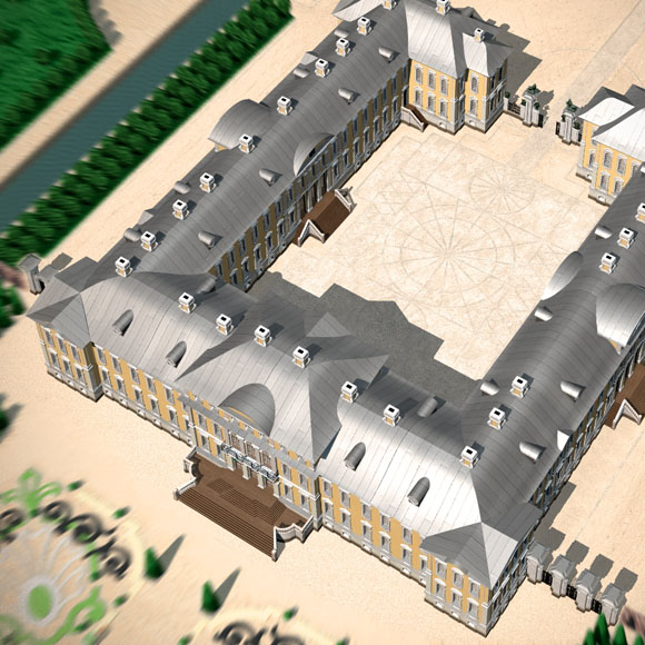 Rundale Palace 3D model for immersive virtual tour