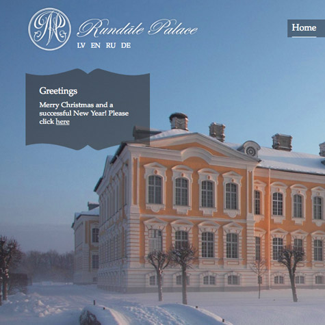 Rundales palace | website and 360° virtual tour | Featured