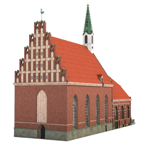 St. Johns Church in Old Riga | 3D model - featured