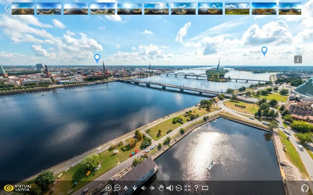 Rigas AeroFoto Ture - 360 gradu Panorama no Pardaugavas | VIRTUALLATVIA.LV